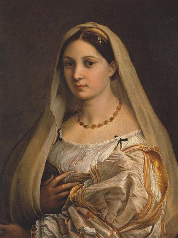 Obraz Portret kobiety Rafael Santi - reprodukcja obrazu na płótnie fototapeta, plakat