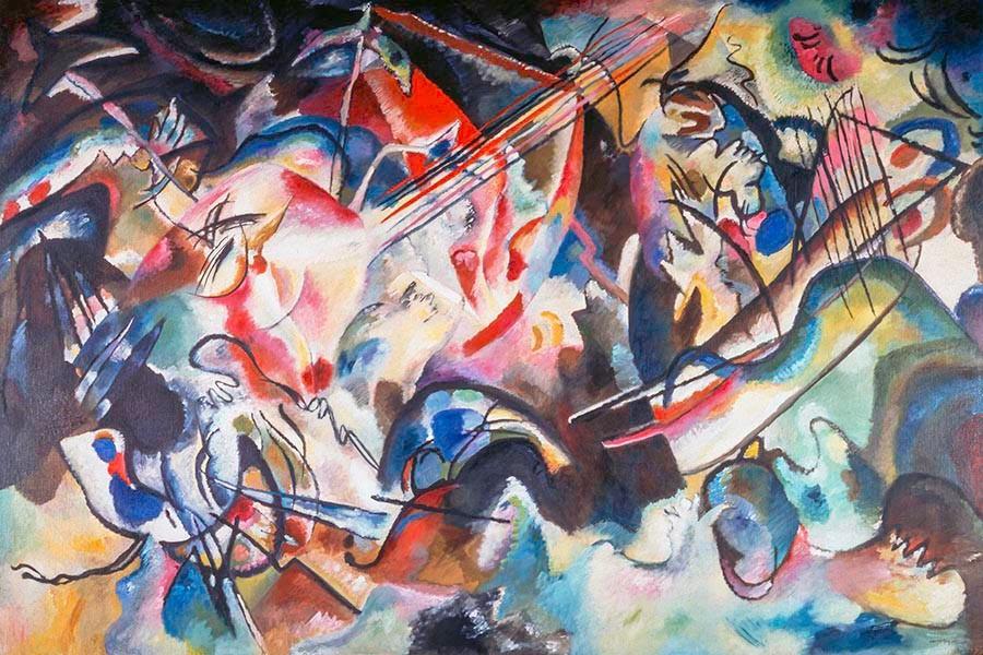 Obraz Kompozycja VI Kandinsky Vasily - reprodukcja obrazu na płótnie fototapeta, plakat