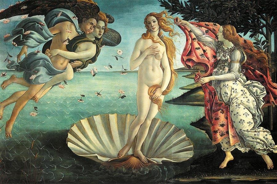Obraz Narodziny Wenus Sandro Botticelliego - reprodukcja obrazu na płótnie fototapeta, plakat