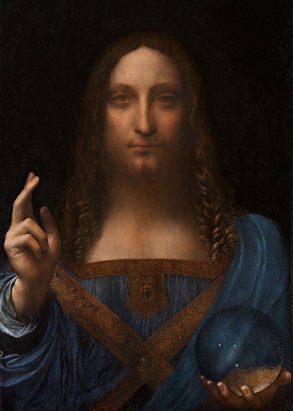 Obraz Zbawiciel Świata Leonarda da Vanci - reprodukcja obrazu na płótnie fototapeta, plakat