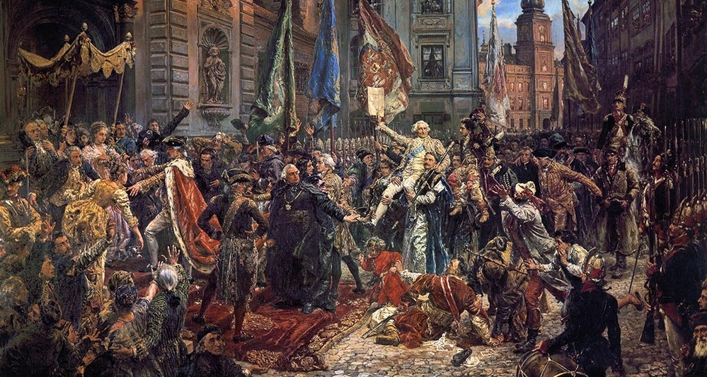 Obraz Konstytucja 3 maja Jana Matejki - reprodukcja obrazu na płótnie fototapeta, plakat