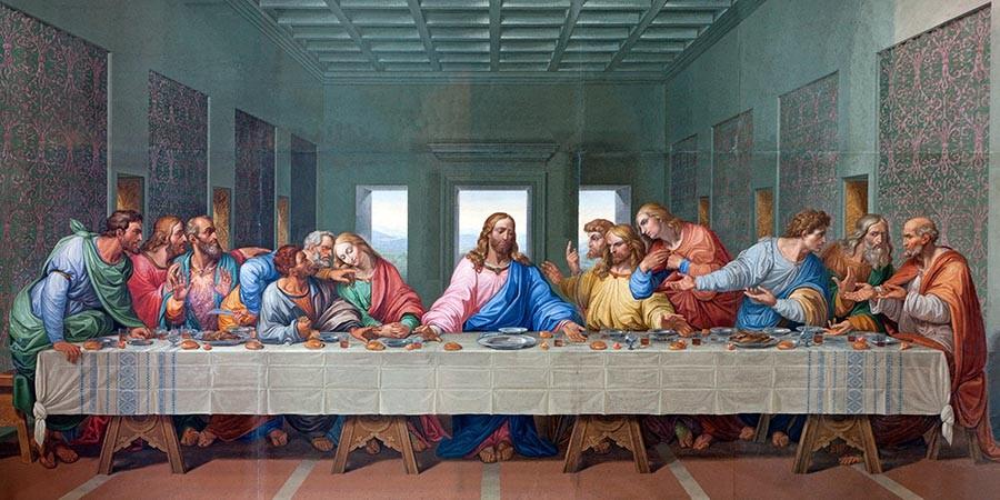 Obraz Ostatnia wieczerza Leonarda da Vinci - reprodukcja obrazu na płótnie fototapeta, plakat