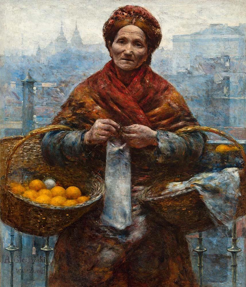 Obraz Pomarańczarka Aleksander Gierymski - reprodukcja obrazu na płótnie fototapeta, plakat