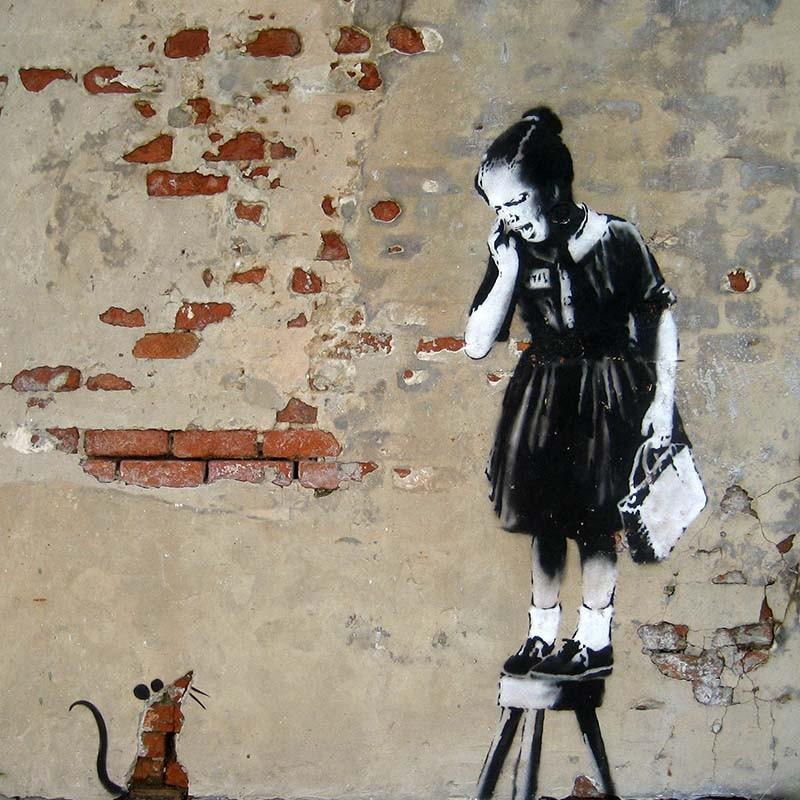Obraz Banksy Ratgirl Artwork fototapeta, plakat