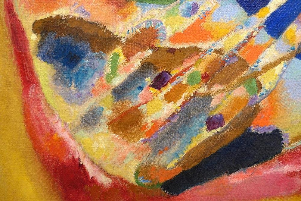 Obraz Abstrakcyjny obraz Wassiliego Kandinskiego Trzy Spoty - reprodukcja obrazu na płótnie fototapeta, plakat