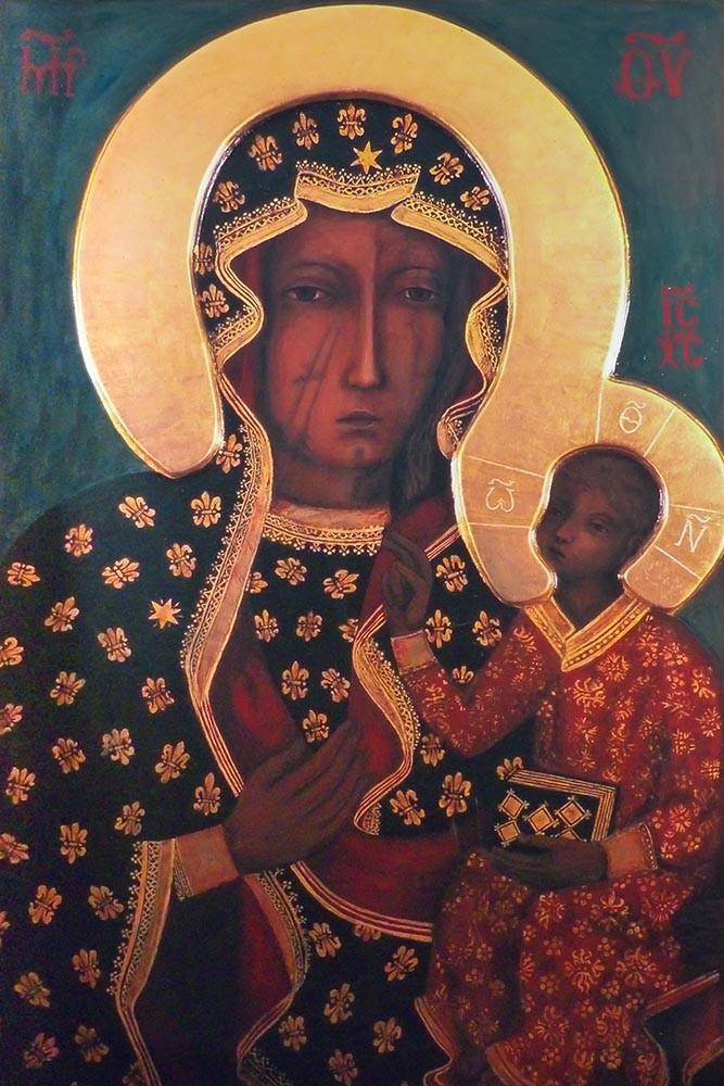 Obraz Matka Boska Częstochowska, Czarna Madonna - reprodukcja obrazu na płótnie fototapeta, plakat