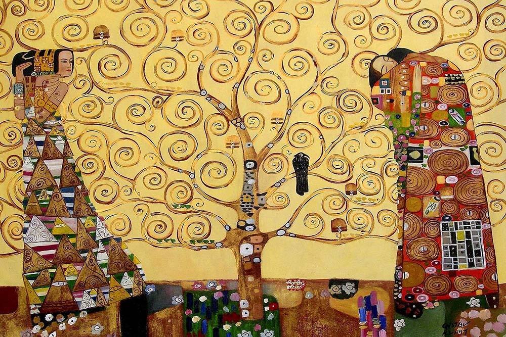 Obraz Drzewo Życia Gustav Klimt - Reprodukcja obrazu na płótnie fototapeta, plakat