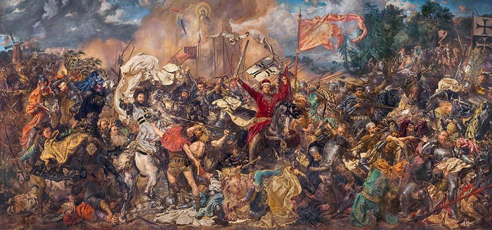 Obraz Bitwa pod Grunwaldem Jana Matejki - reprodukcja obrazu na płótnie fototapeta, plakat
