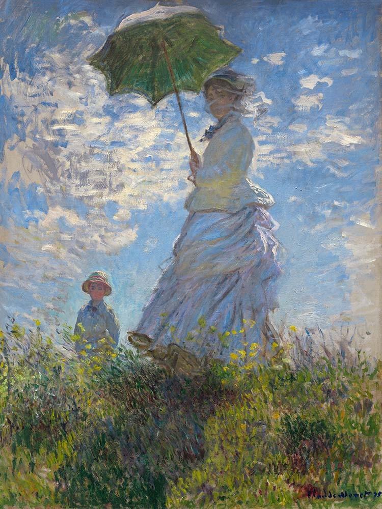Obraz Umbrella Claude Monet - Reprodukcja obrazu na płótnie fototapeta, plakat